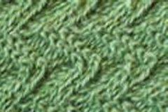 Chevron Skinny Scarf - Green