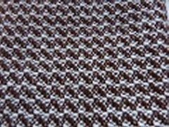 Woven Scarf - Brown/White