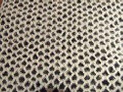 Honeycomb Scarf - Black/White