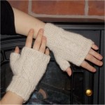 Twisted Cable Fingerless Mitts